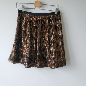 J crew abstract sequin skirt size 4